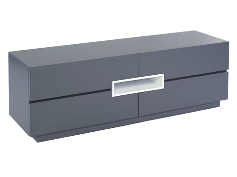GillmoreSPACE Low TV sideboard - Savoye GRAPHITE with WHITE accent