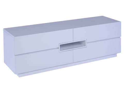 Low TV sideboard - Savoye WHITE with WHITE accent
