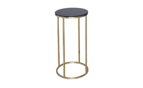 GillmoreSPACE Circular Lamp Stand - Kensal BLACK with BRASS base