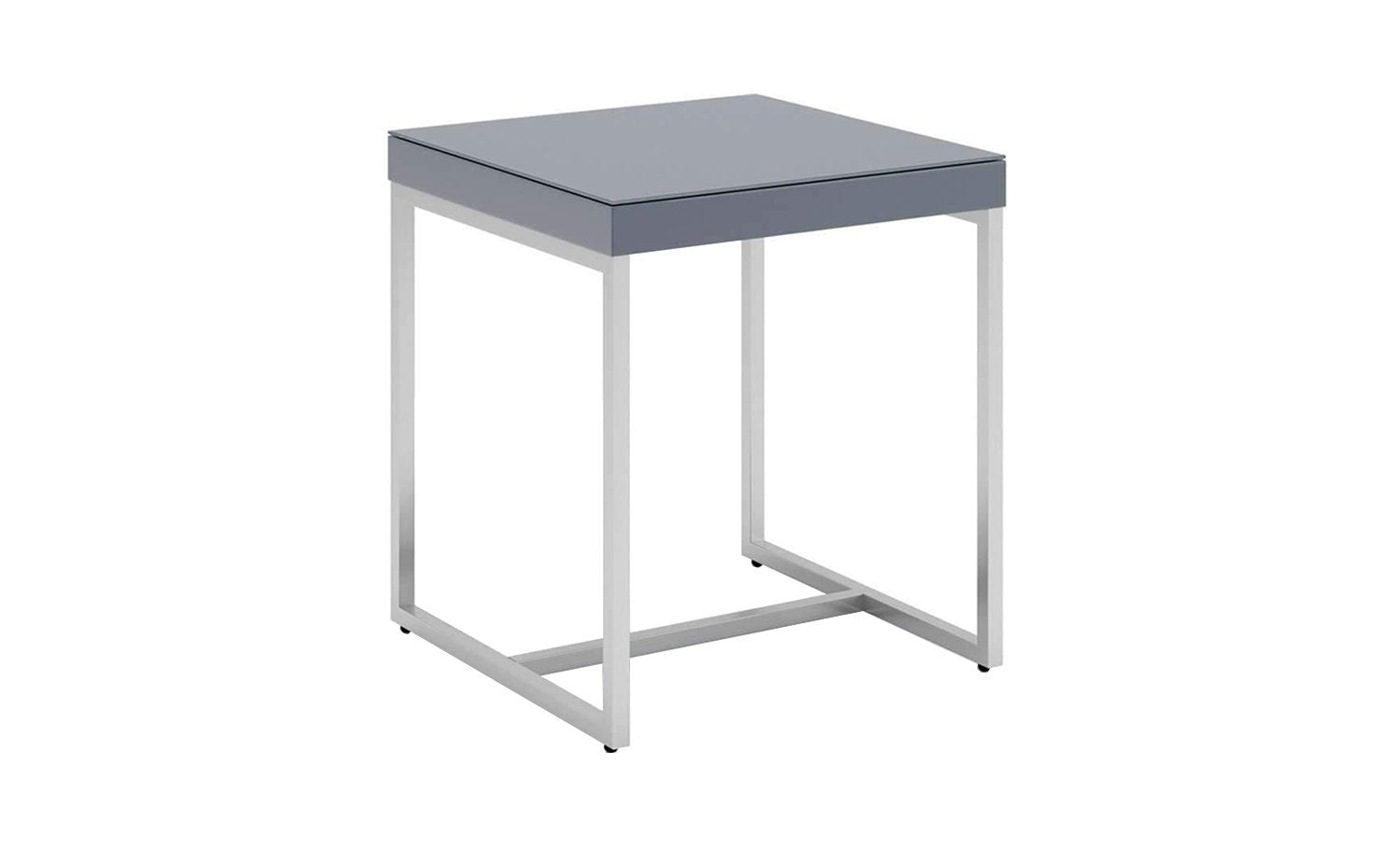 Cuba Side Table - Grey Lacquer
