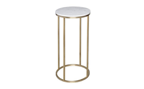 GillmoreSPACE Kensal Marble & Brass Circular Lamp Stand