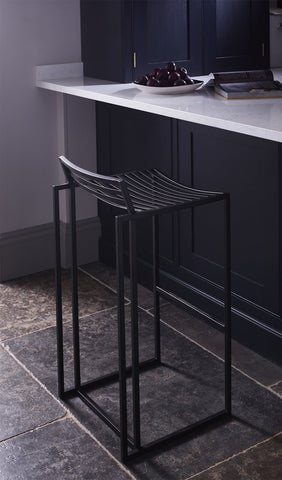 Federico Black Metal Bar Stool