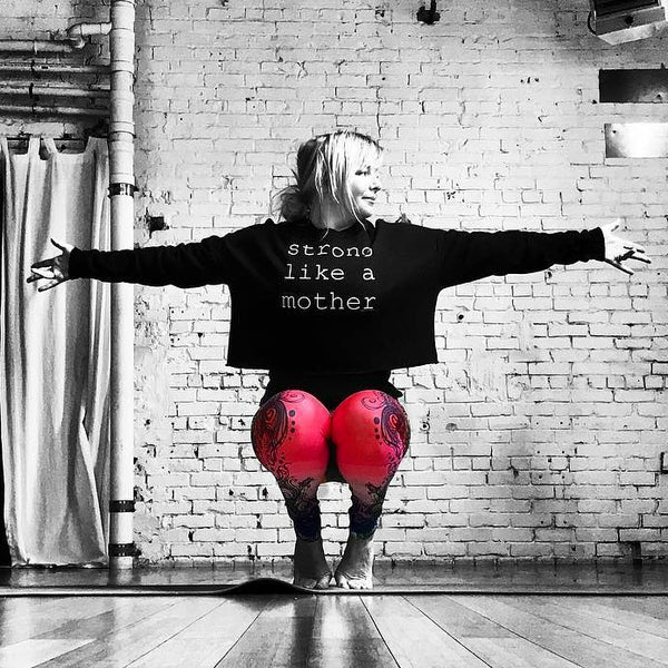 Strong Like a Mother Crop Sweatshirt