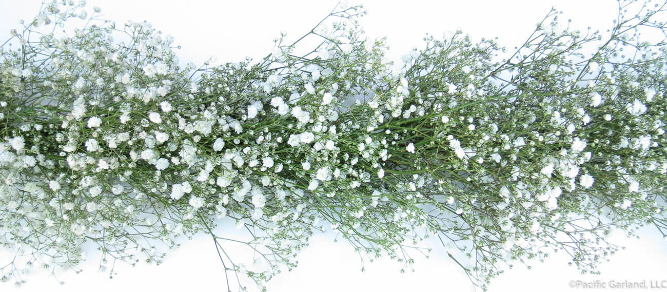 fresh premium baby s breath garland for weddings by pacific garland