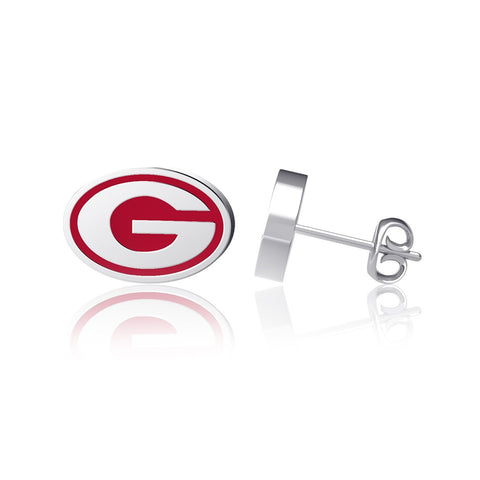University of Georgia Post Earrings - Enamel