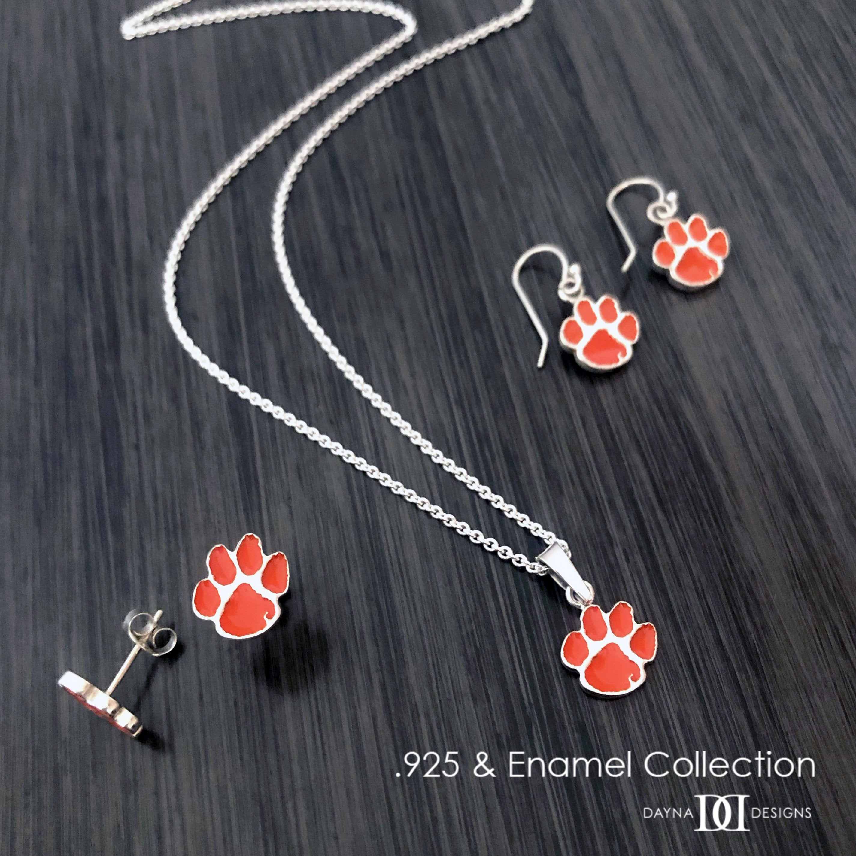 Clemson University Heart Necklace - Enamel