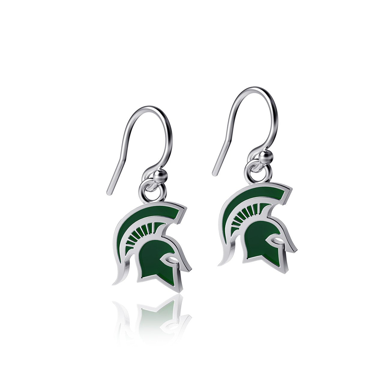 Michigan State University Dangle Earrings - Enamel