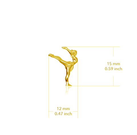 Gymnastics Pendant Necklace - Gold Plated