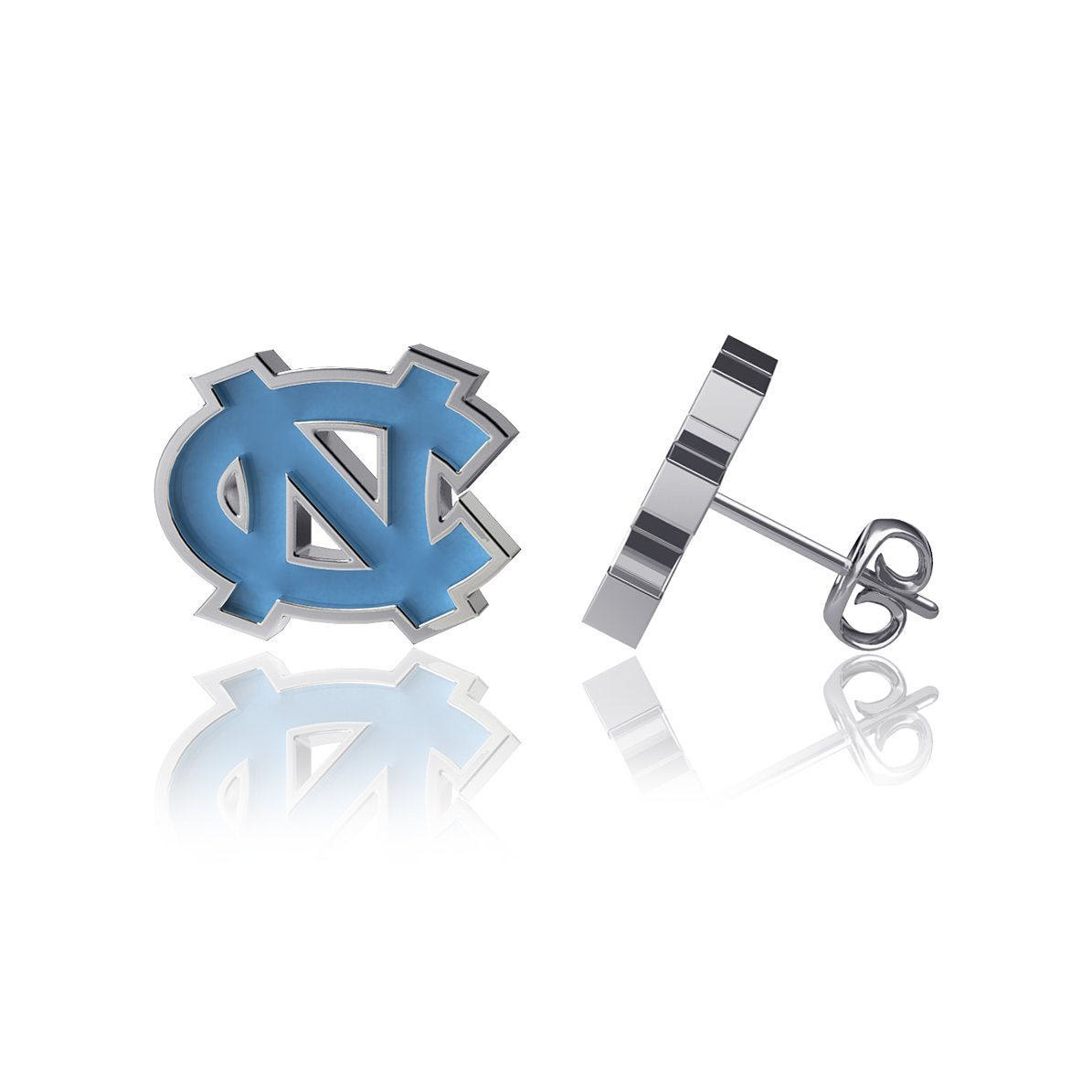 University of North Carolina Post Earrings - Enamel