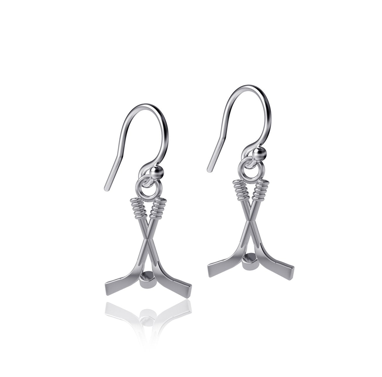 Hockey Dangle Earrings
