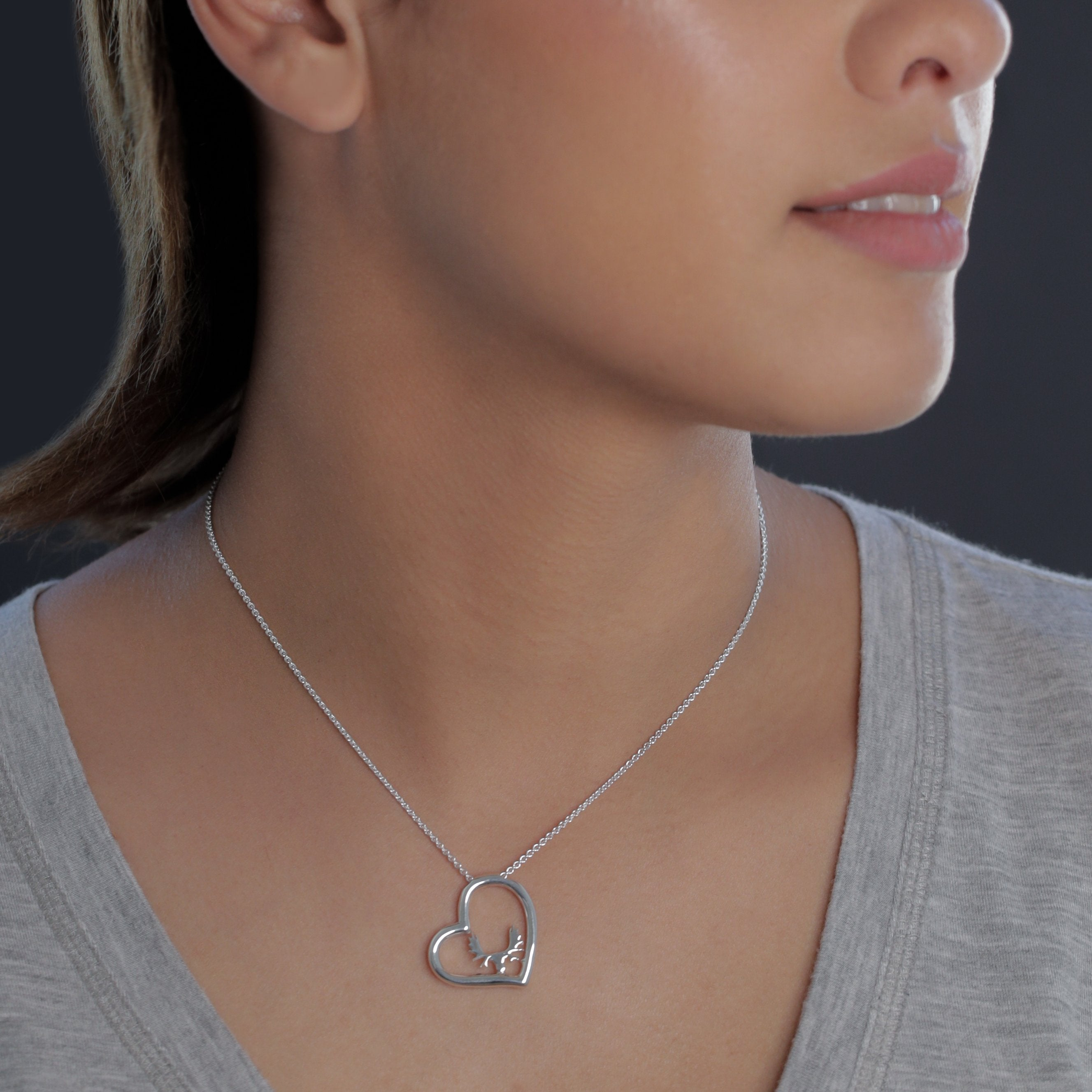 Moose Heart Necklace