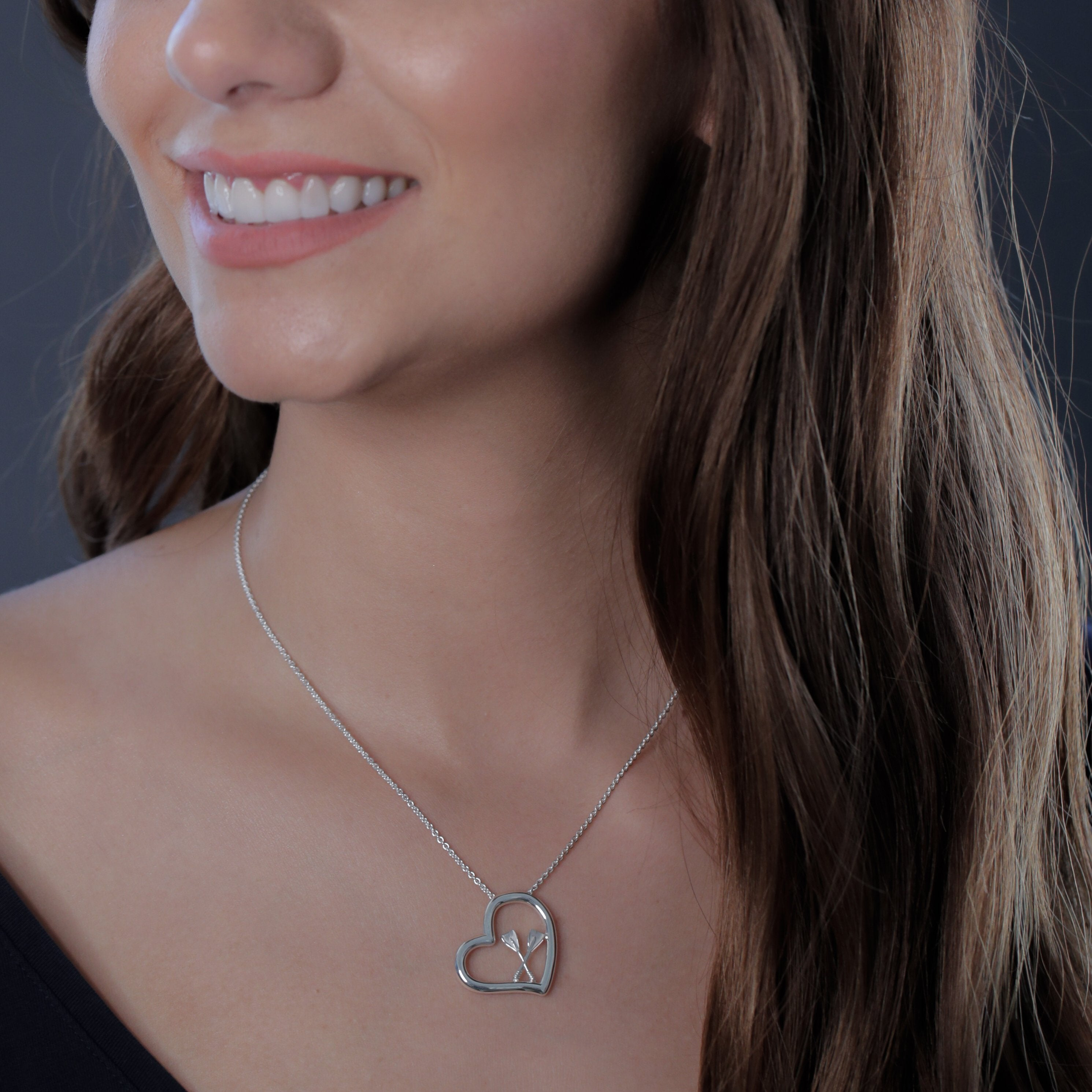 Crew Rowing Heart Necklace