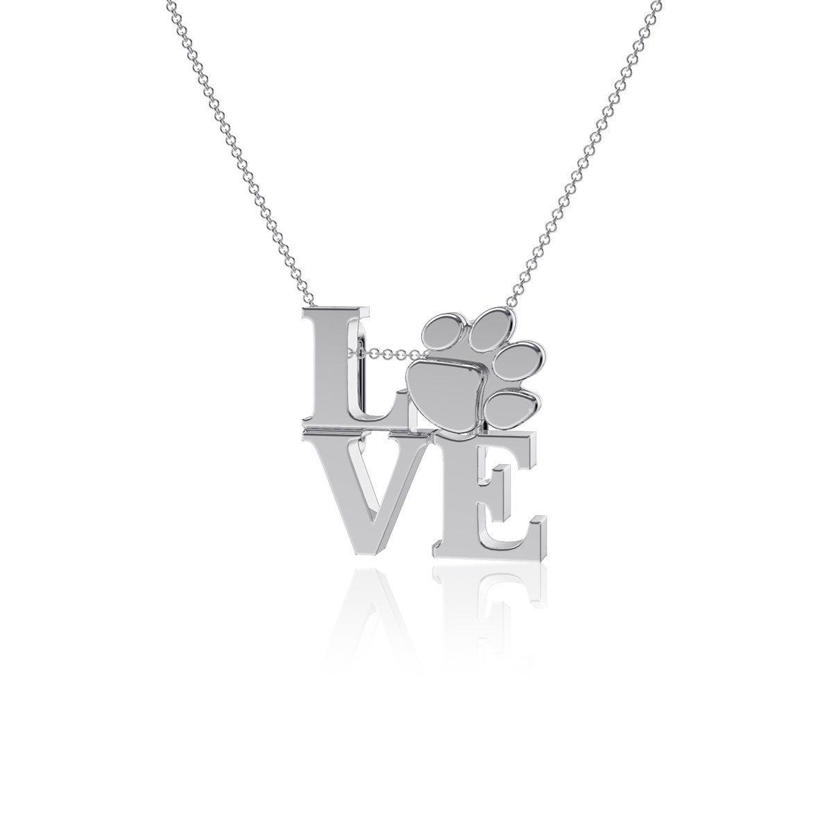 Paw Love Pendant Necklace