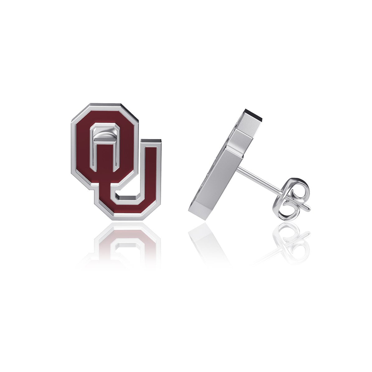 University of Oklahoma Post Earrings - Enamel