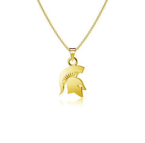 Michigan State University Pendant Necklace - Gold Plated