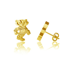 University of Wisconsin Post Earrings - Gold Plated