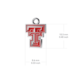 Texas Tech University Dangle Earrings - Enamel