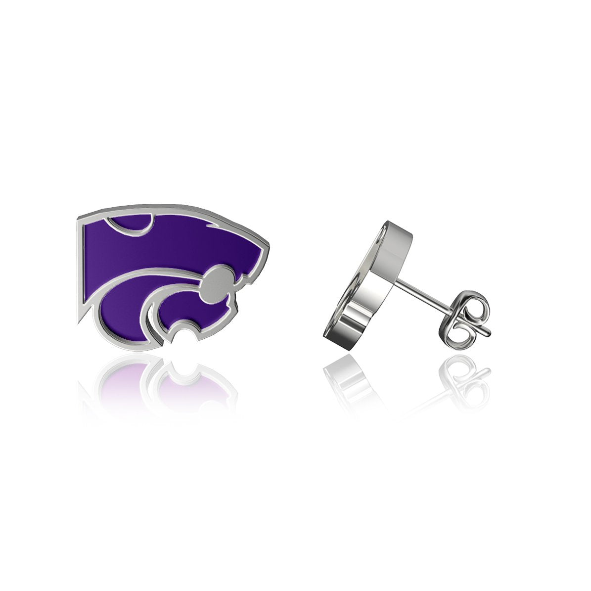 Kansas State University Post Earrings - Enamel
