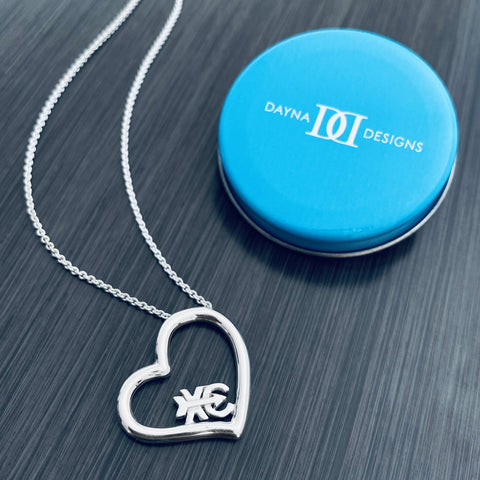 Cross Country Heart Necklace