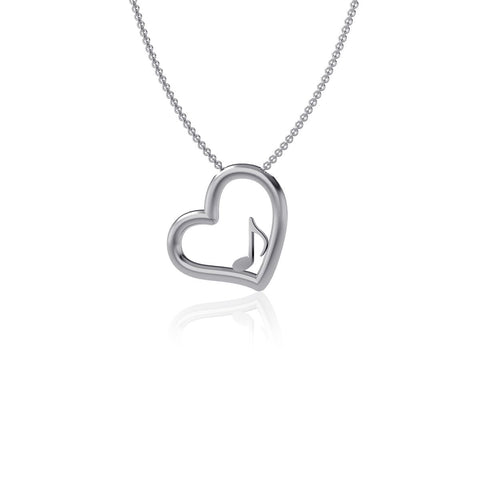 Music Note Heart Necklace