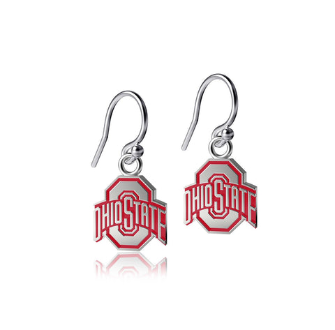 Ohio State University Dangle Earrings - Enamel