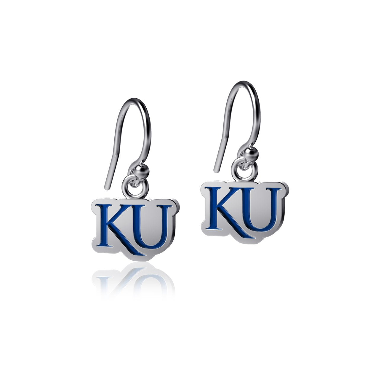 University of Kansas Dangle Earrings - Enamel