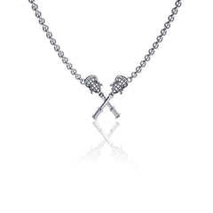 Lacrosse Sticks Pendant Necklace