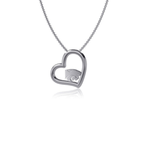 Kansas State University Heart Necklace