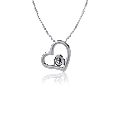 Ohio State University Heart Necklace