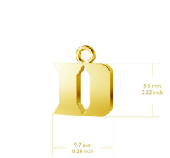 Duke University Post Earrings - Gold Plated