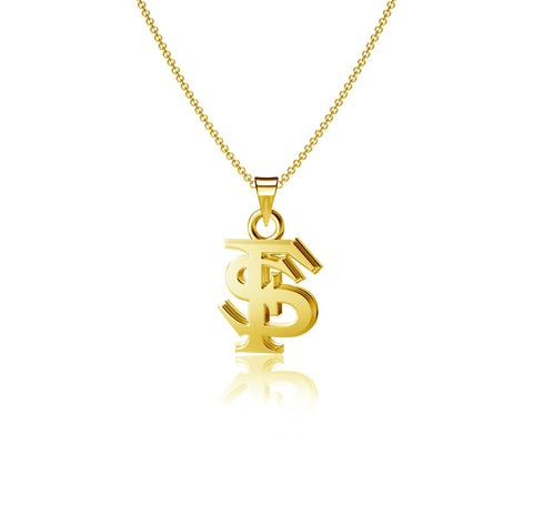 Florida State University Pendant Necklace - Gold Plated