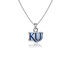University of Kansas Pendant Necklace - Enamel