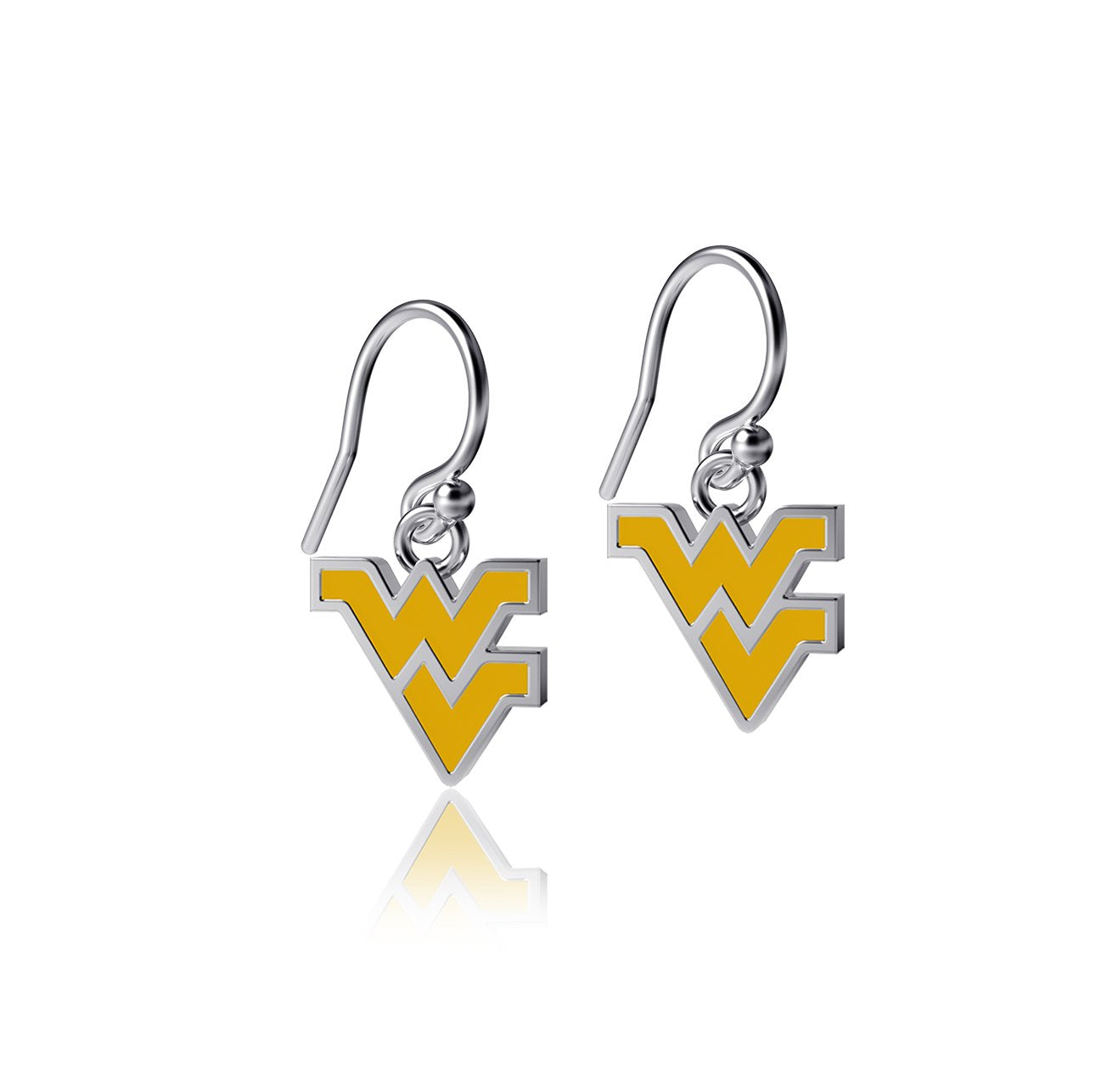 West Virginia University Dangle Earrings - Enamel