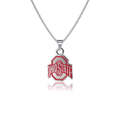 Ohio State University Pendant Necklace - Enamel