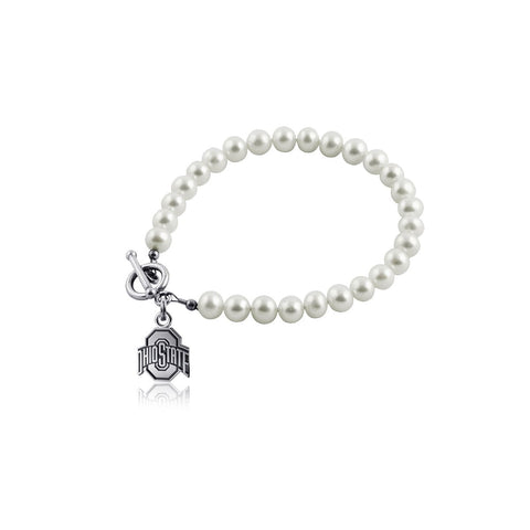 Ohio State University Pearl Bracelet