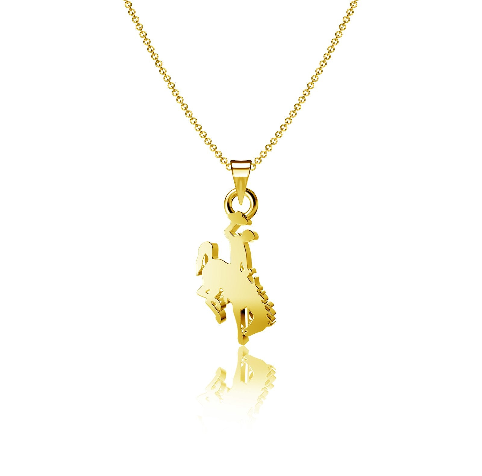 University of Wyoming Pendant Necklace - Gold Plated