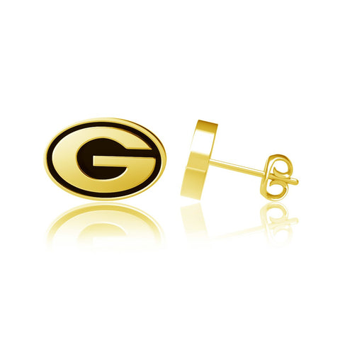 University of Georgia Post Earrings - Gold Plated