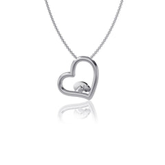 University of Iowa Heart Necklace