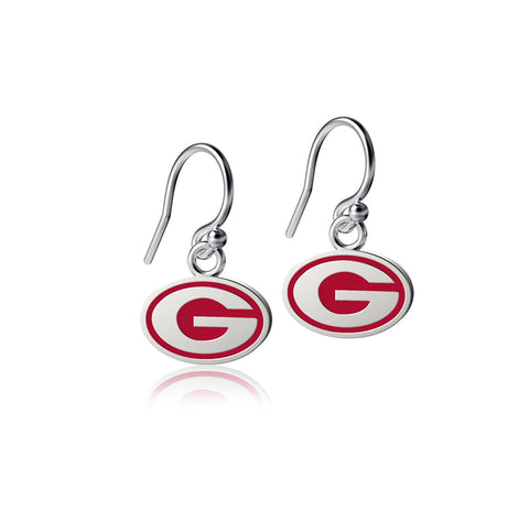 University of Georgia Dangle Earrings - Enamel