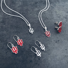 Indiana University Dangle Earrings