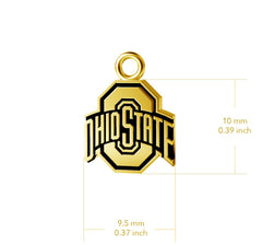 Ohio State University Post Earrings - Gold Plated