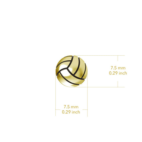 Volleyball Pendant Necklace - Gold Plated