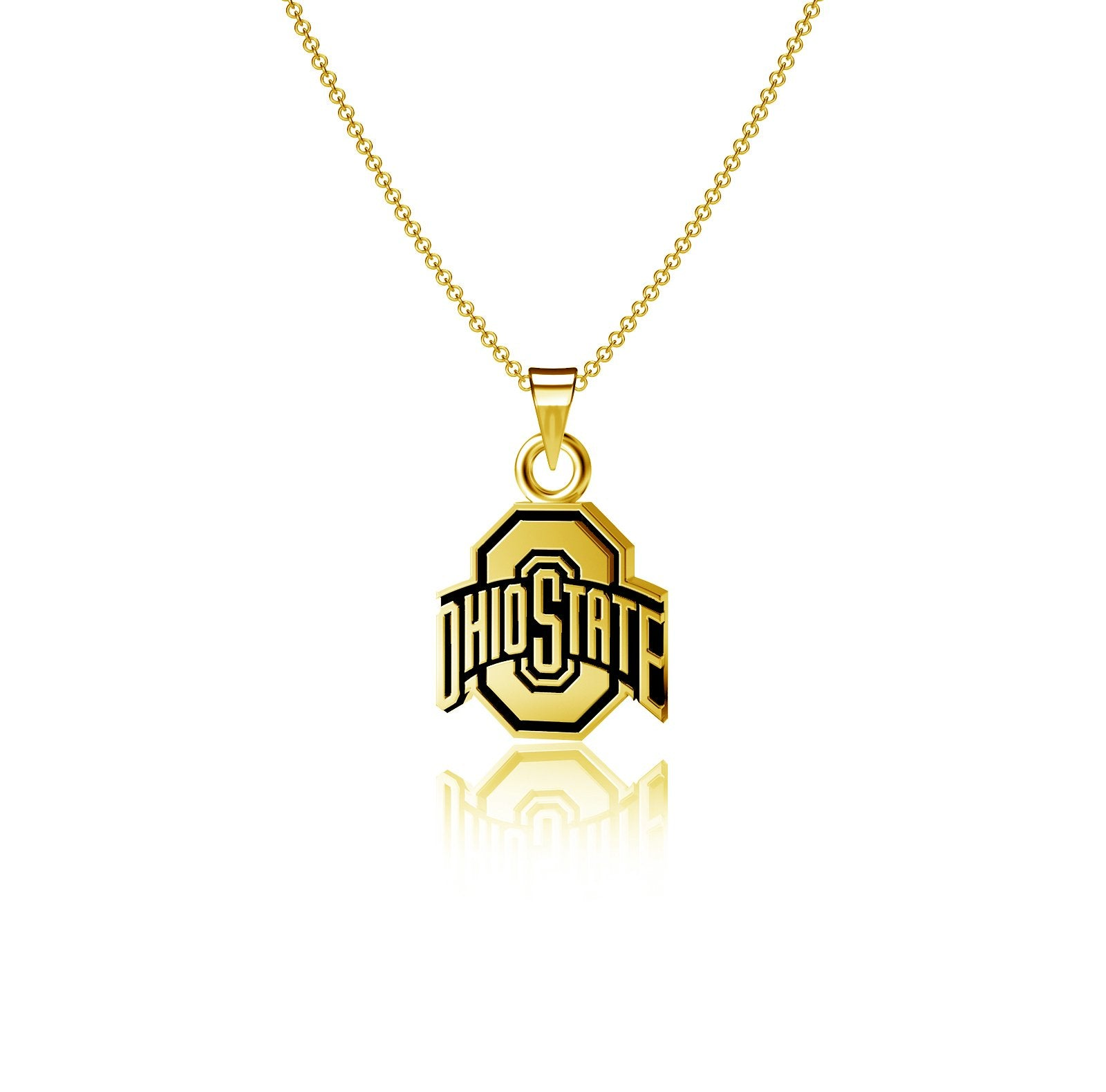 Ohio State University Pendant Necklace - Gold Plated