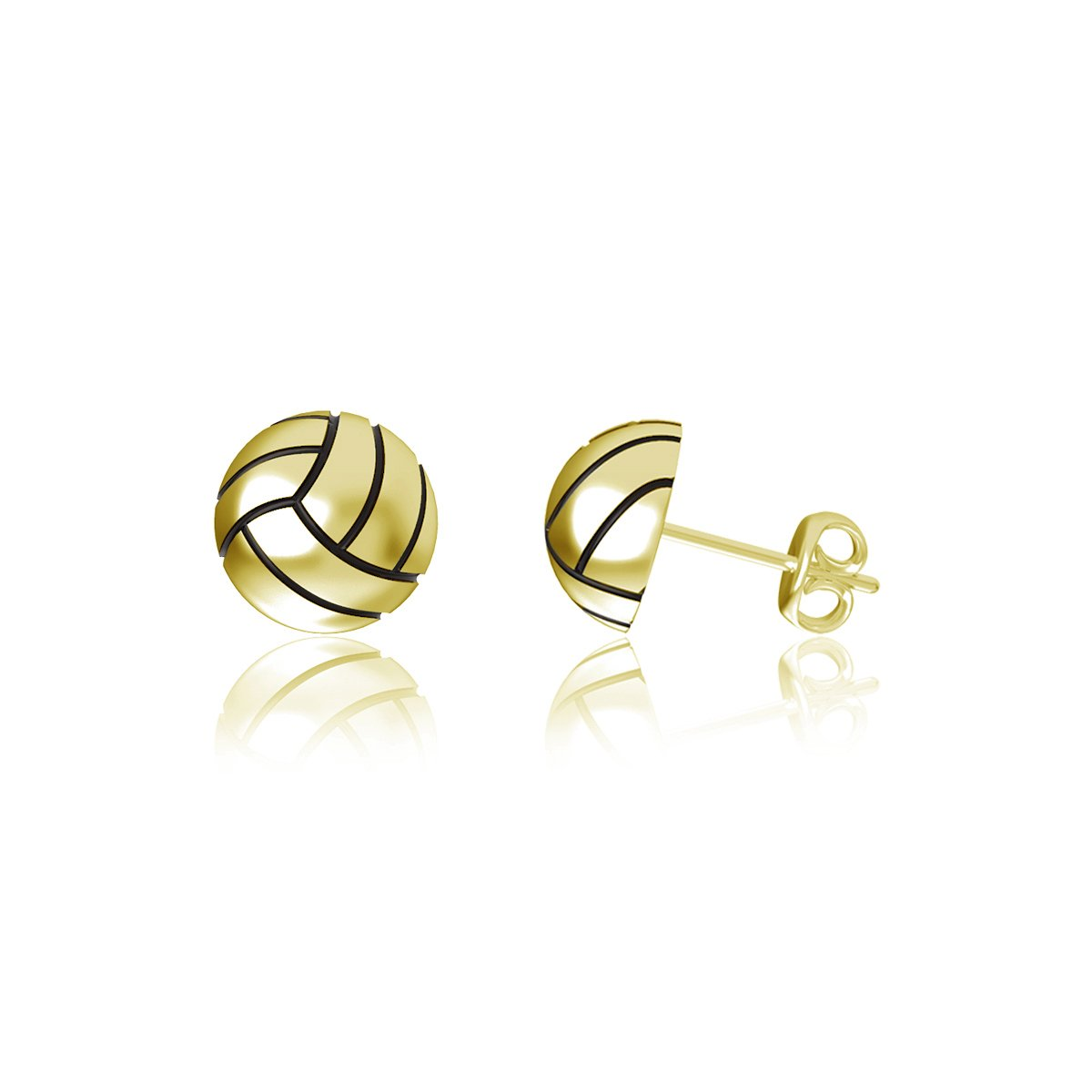 Volleyball Post Earrings - Gold Plated