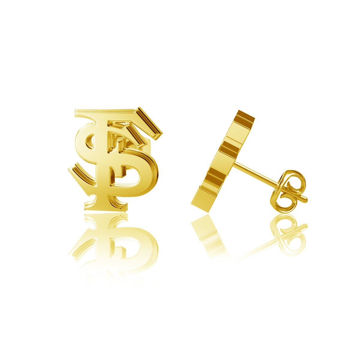 Florida State University Post Earrings - Gold Plated