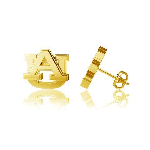 Auburn University Post Earrings - Gold Plated