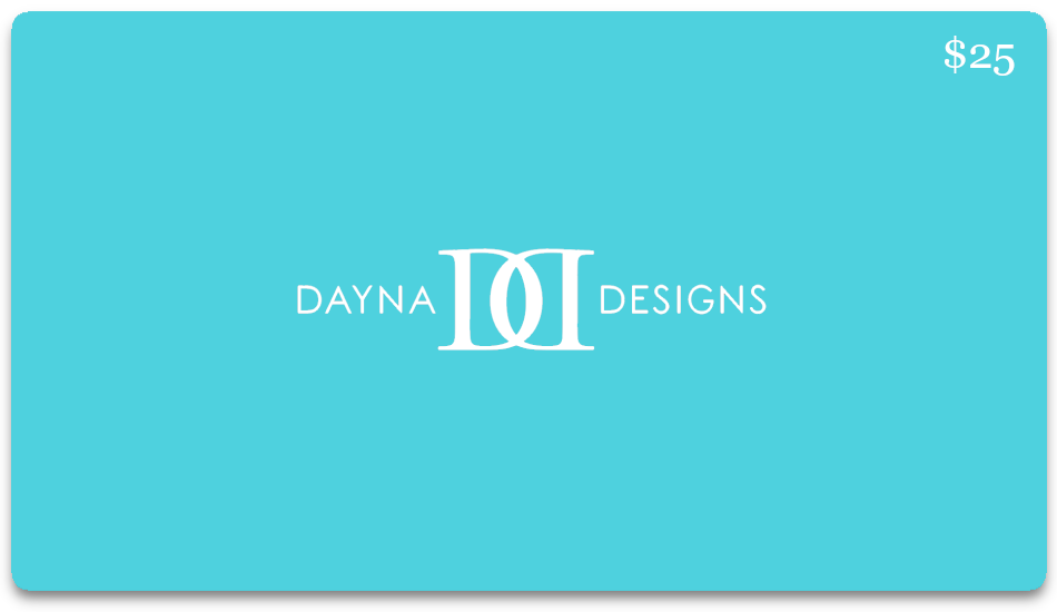"Dayna Designs® e-Gift Card in ""Signature Blue"""
