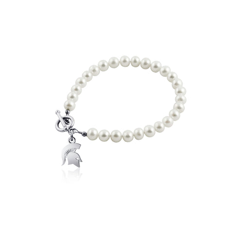 Michigan State University Pearl Bracelet