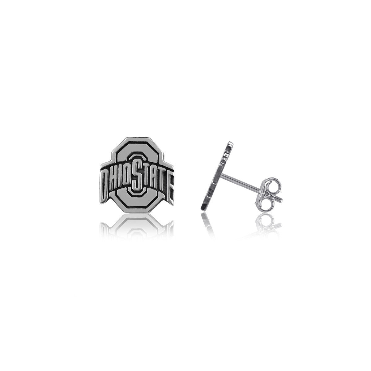 Ohio State Earrings - Silver Studs - Ohio State Jewelry