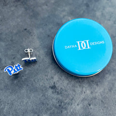 University of Pittsburgh Post Earrings - Enamel